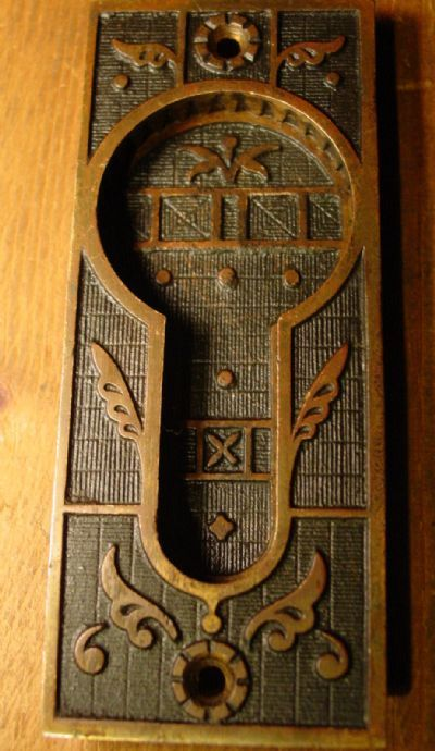 Bronze Pocket Door Pull Hardware