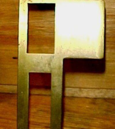 Exterior Brass Strike Plate