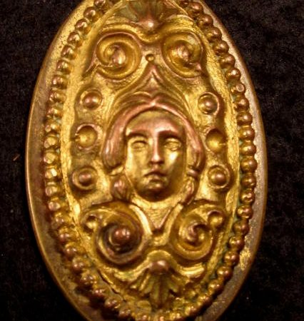 Figural Bronze Key Hole Cover