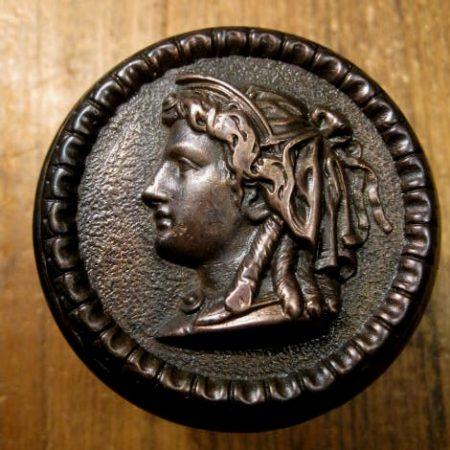 Figural Bronze Door Knob