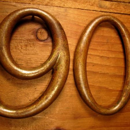 Large Bronze House Number 90