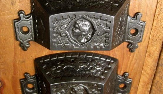 Figural Iron Bin Pulls