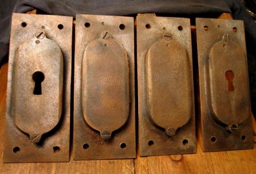 Bronze Pocket Door Pull Set Hardware Plk 301 Classic
