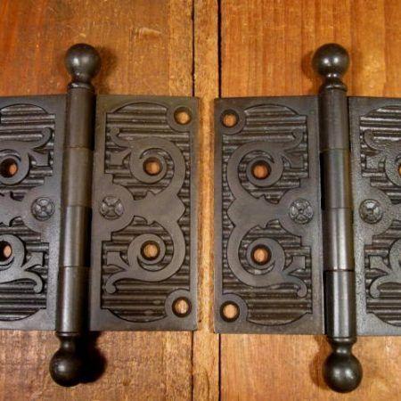 """4-1/2"""" Iron Door Hinges"""