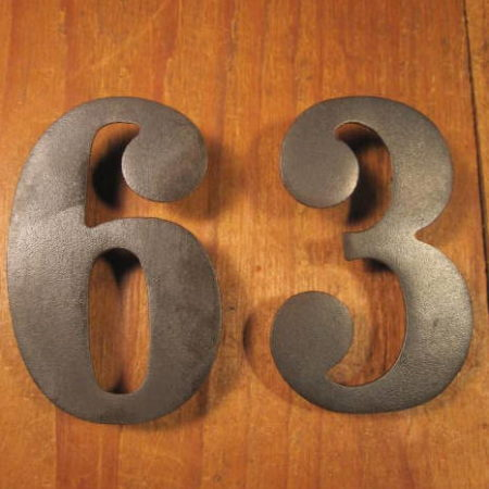 Iron House Numbers 36