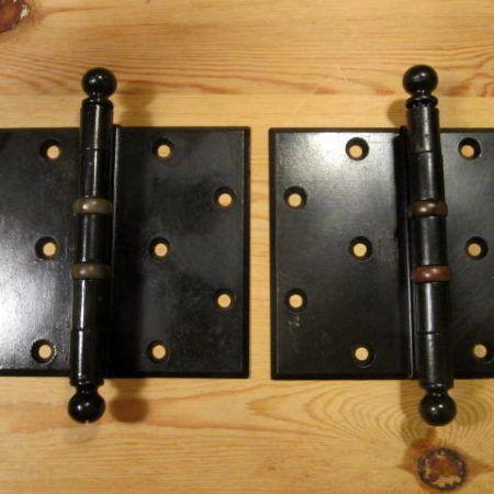 Large Iron Hinges 5-1/2 x 5