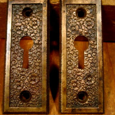 Bronze Key Hole Escutcheons