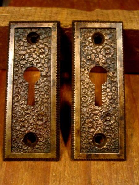 Bronze Key Hole Escutcheons