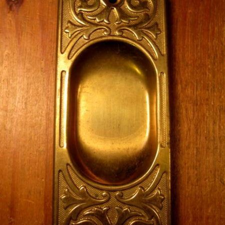 Brass Pocket Door Pull