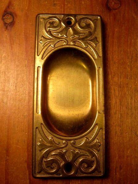 Brass Pocket Door Pull