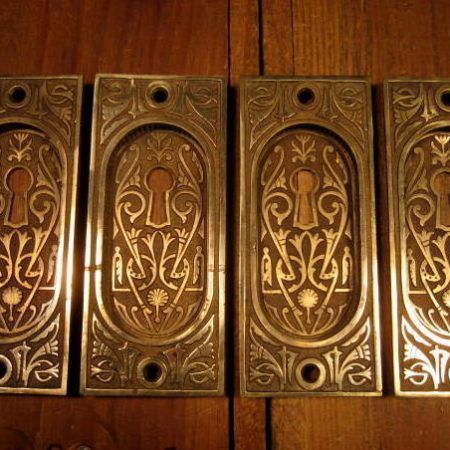 Bronze Pocket Door Pull Set