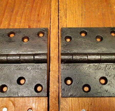 """Early Butt Hinges 3-1/2"""" x 4"""""""