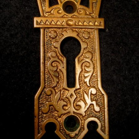 Large Bronze Key Hole Escutcheon