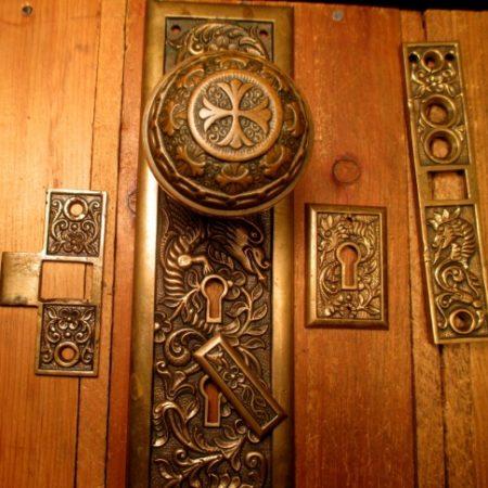 Bronze Exterior Door Knob Set