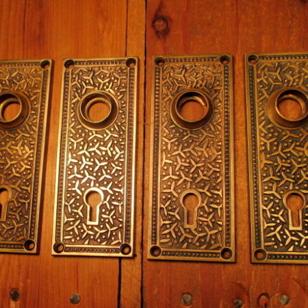 Cast Bronze Door Plate