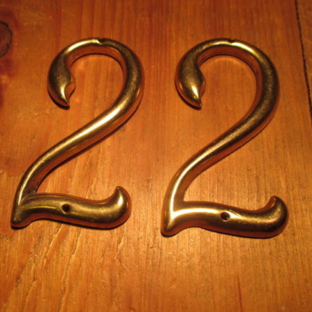 Brass House Numbers 22