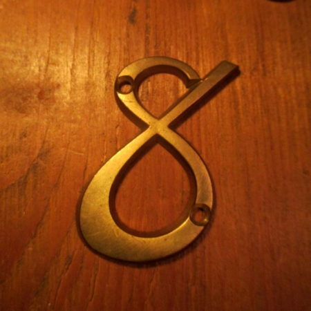 Brass House Number 8