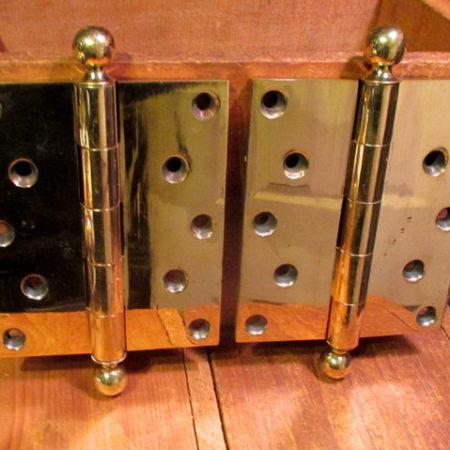 Brass Ball Top Hinge 4-1/4 x 5