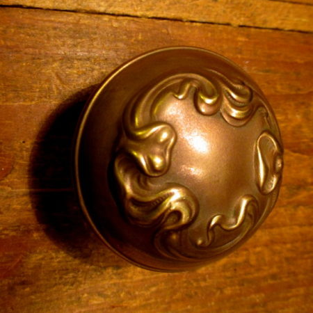Bronze Door Knob Art Nouveau