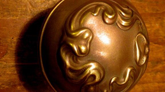 Bronze Door Knob Art Nouveau