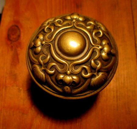 Art Nouveau Brass Door Knob