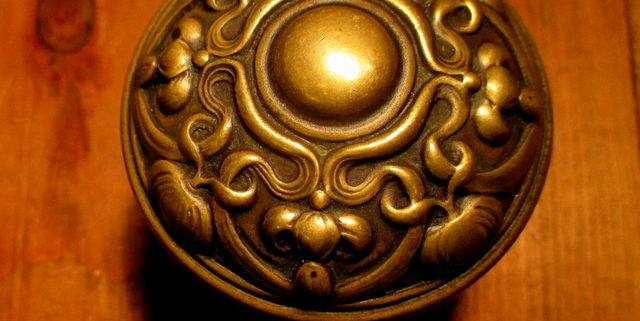 Art Nouveau Brass Door Knob