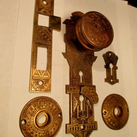 Exterior Bronze Door Knob Set Norwich
