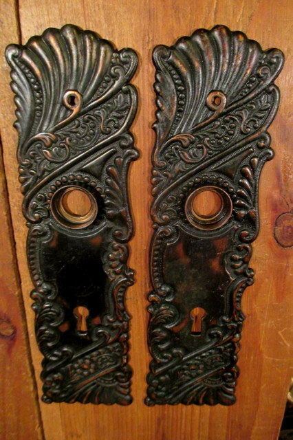 Brass Door Plate Roanoke Corbin