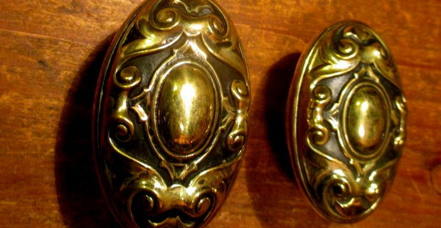 Brass Exterior Door Knob Set YALE