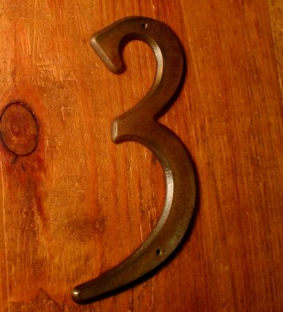 House Numbers Brass Iron