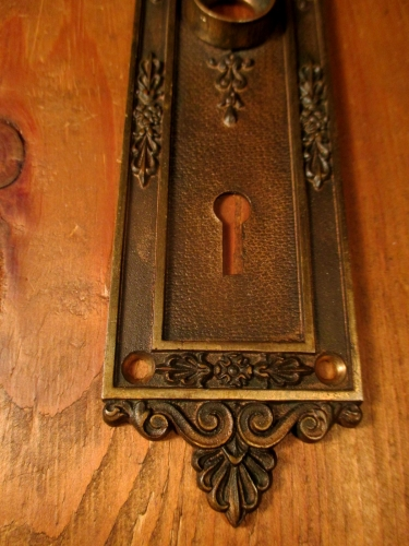 Bronze Interior Door Plate Re 006 Classic Home Hardware