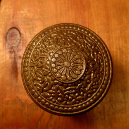 Bronze Door Knob Rice Pattern
