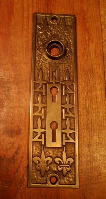 Bronze Exterior Door Plate Double Key