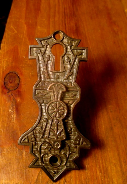 Double bronze Key Hole Cover