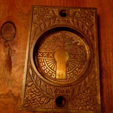Cast Bronze Pocket Door Pull