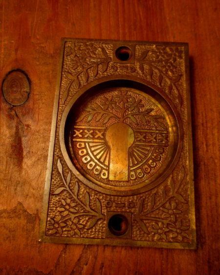 Cast Bronze Pocket Door Pull