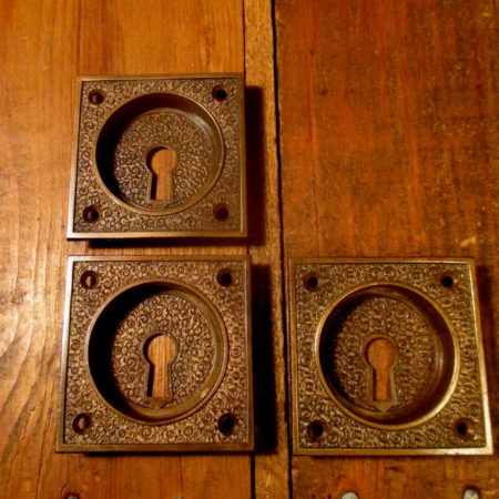 Antique Bronze Pocket Door Pull