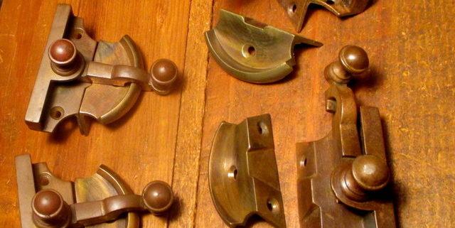 Bronze Window Sash Lock Hardware