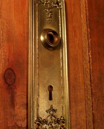 Cast Brass Door Plate