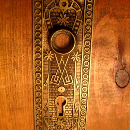 Bronze Interior Door Plate