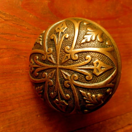 Cast Bronze Door Knob Antique Knob