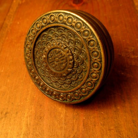 Cast Bronze Door Knob Corbin Brocade