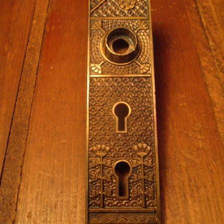 Bronze Exterior Double Key Hole Door Plate