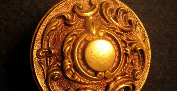 Cast Bronze Door Knob Reading