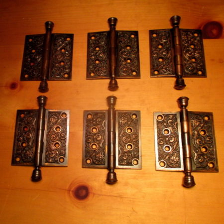4 x 4 Bronze Door Hinges Columbian