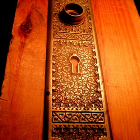 Bronze Door Plate Brocade