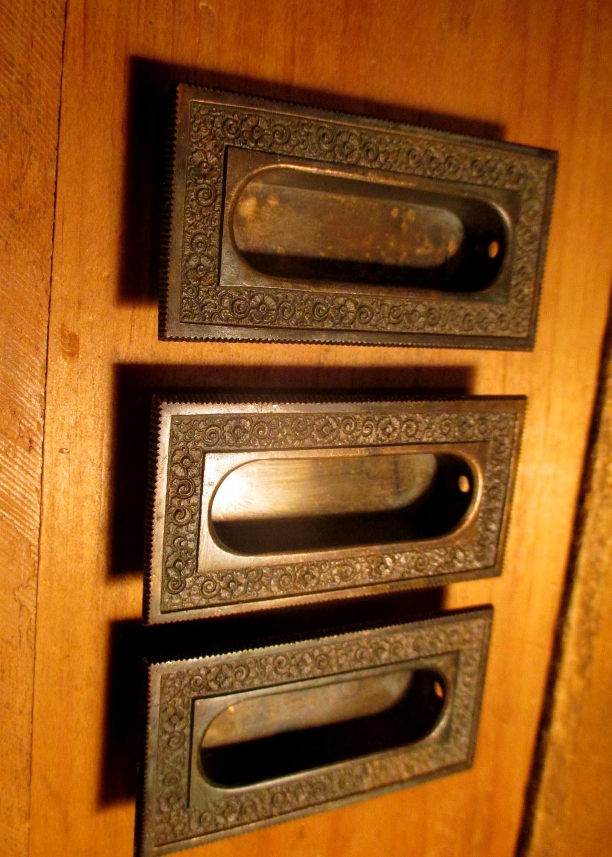 Ornate Bronze Sash Lift Window Pull Hardware Re Damascene