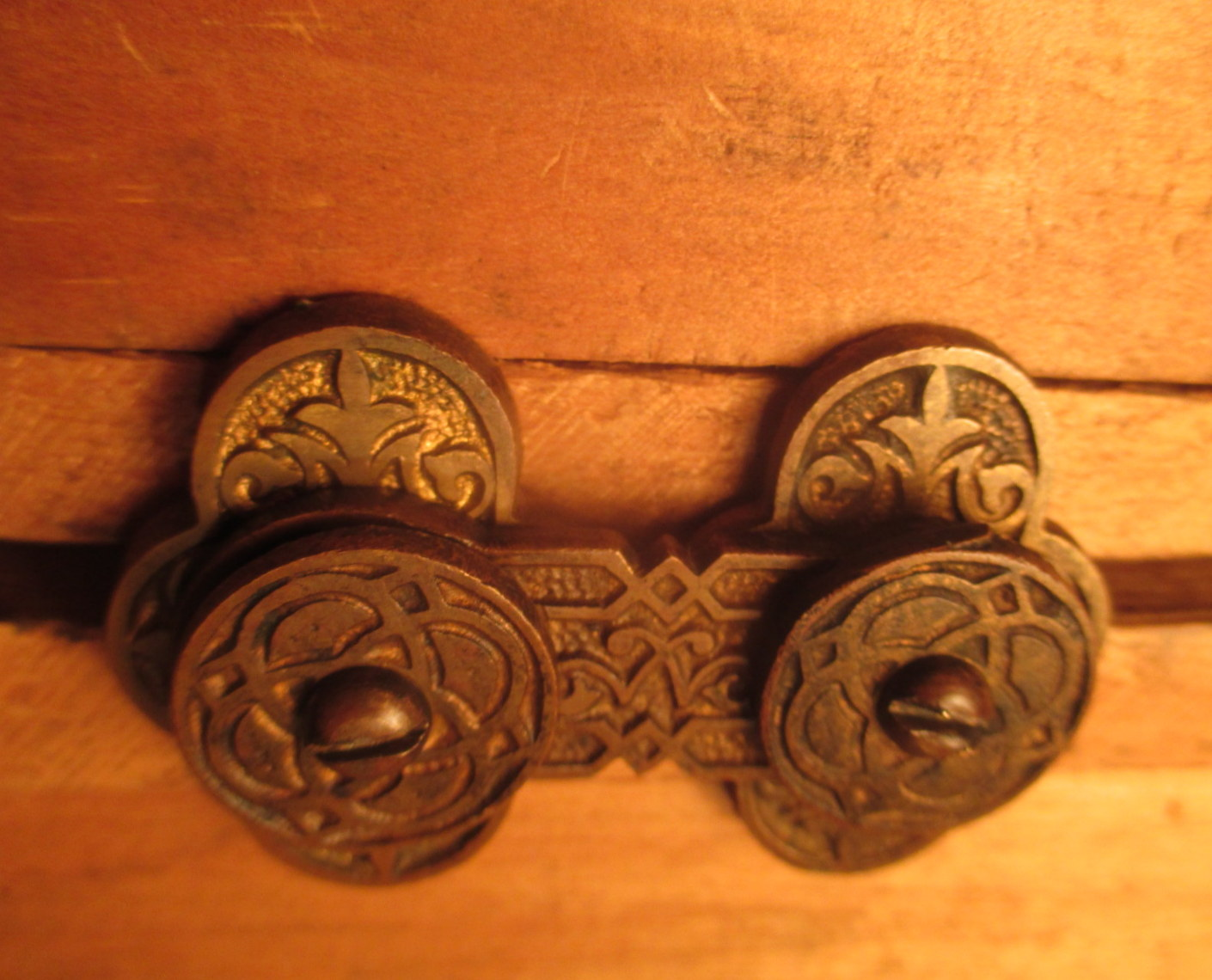 Ornate Victorian Brass Interior Shutter Latch Ish 151