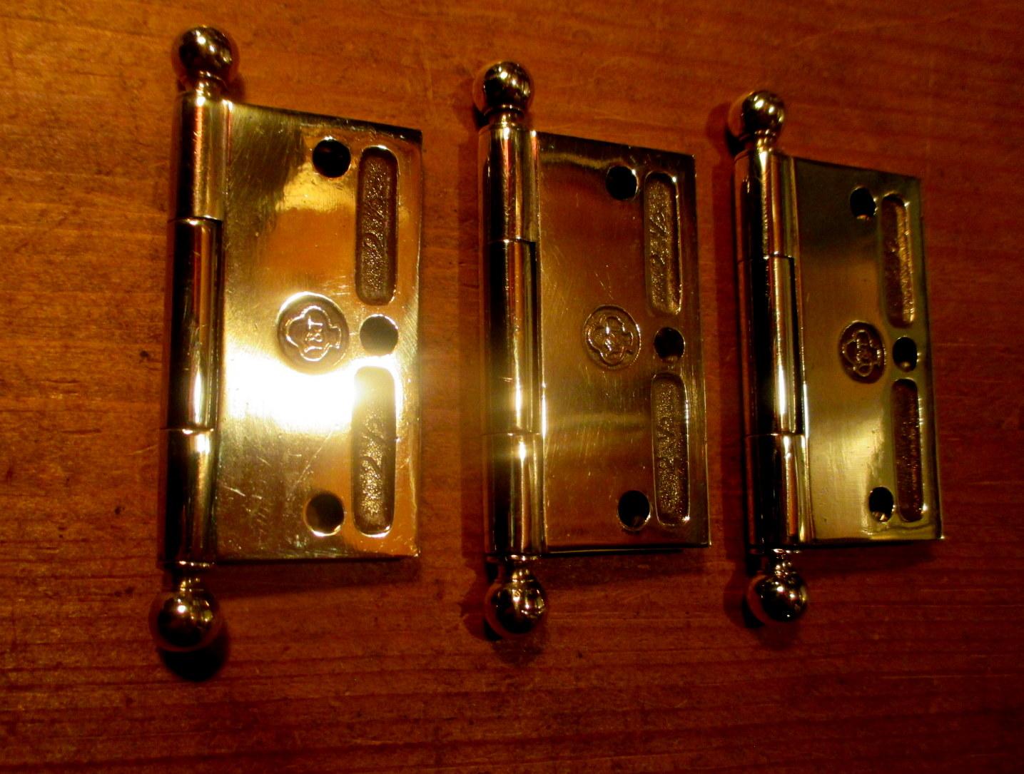 2 1 2 Quot X 2 1 2 Quot Brass Ball Top Hinges Door Hinge Classic
