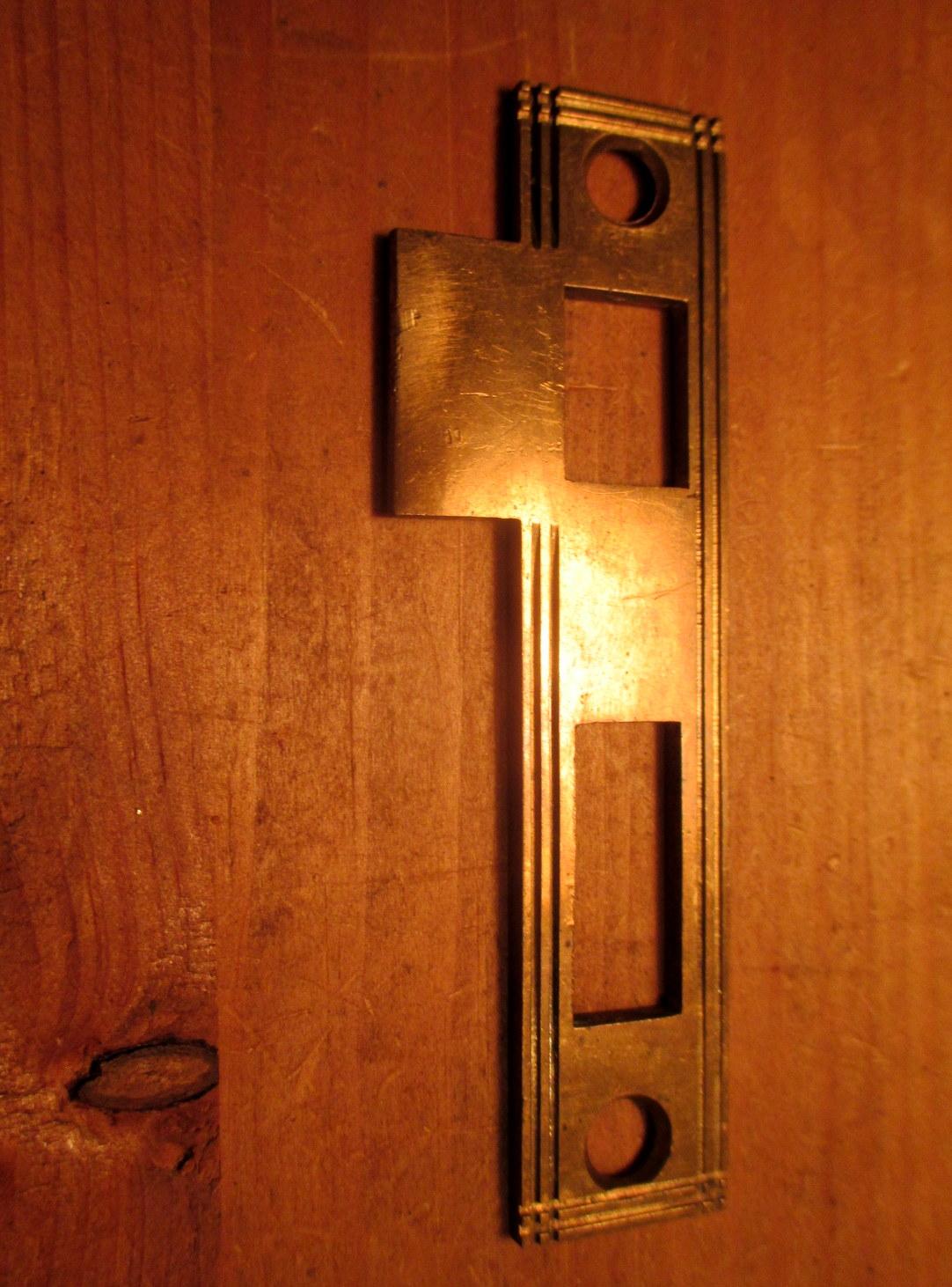 Brass Strike Plate Interior Door Mortise Lock Hardware Ids
